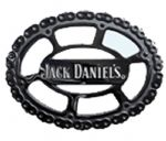 Jack Daniel's Cut Out Chain Belt Buckle with display stand. Product code WB1
